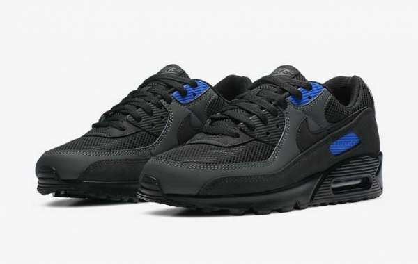 "Latest Nike Air Max 90 ""Black Royal"" DA1505-001 For Sale Online"