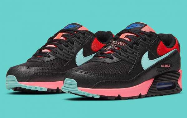 2020 Latest Air Max 90 Gets Miami Vice Silver Chain Link Colorways