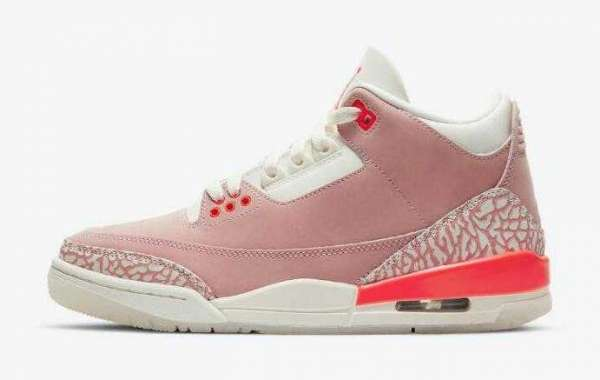 Air Jordan 3 WMNS Rust Pink Sail White Crimson is Available Now