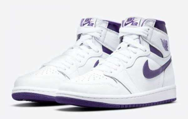 "2021 Newest Air Jordan 1 High OG ""Court Purple"" CD0461-151"